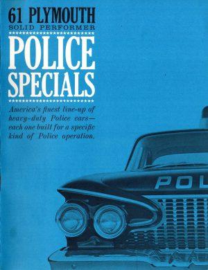 1961 Plymouth Police Car Brochure
