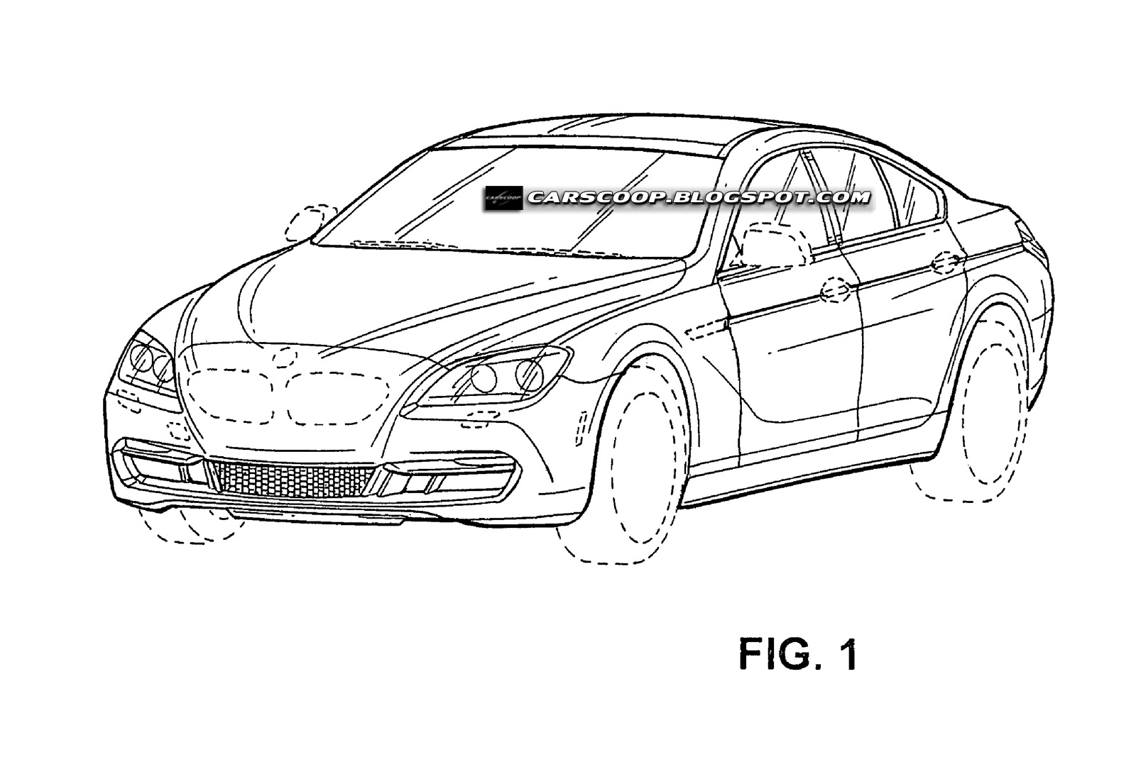 Bmw S Four Door Coupe Seen Through Patent Drawings