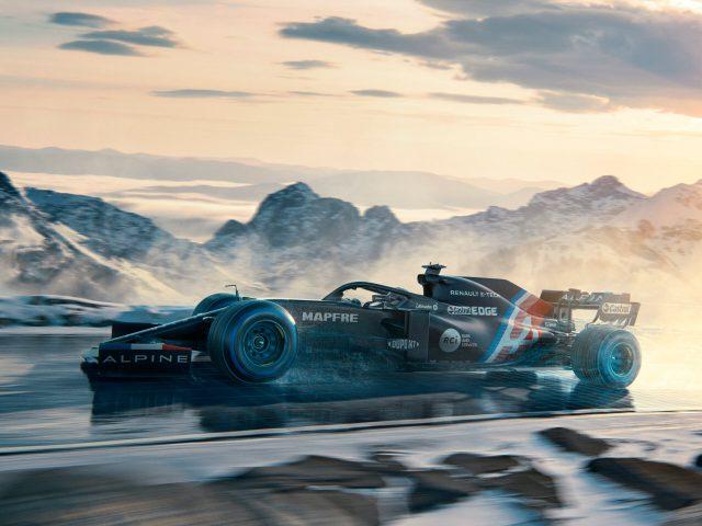 Alpine F1 presenta livrea invernale provvisoria.