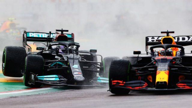 ala rotta Hamilton. Hamilton vs Verstappen  a Imola