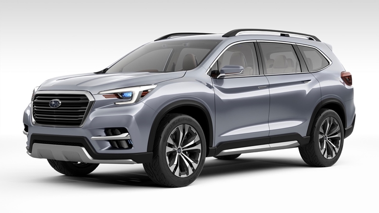 2019 Subaru Ascent 3-row SUV showed before 2017 LA Auto Show