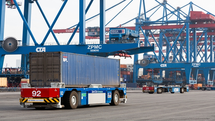 Electric Automated Container Transporter