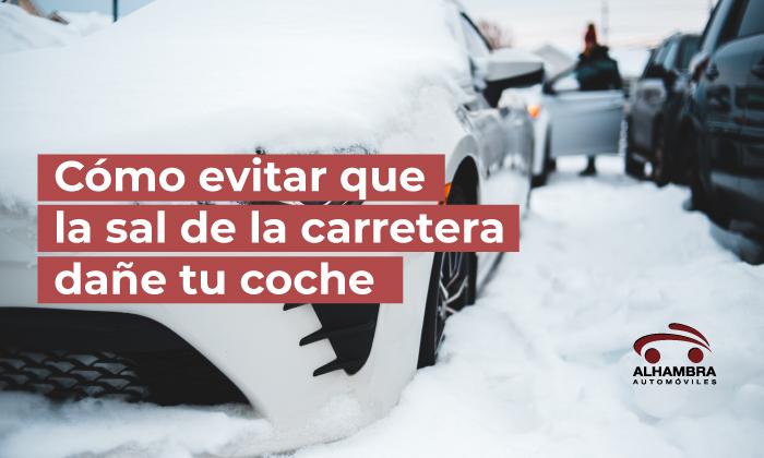 quitar hielo y sal del coche