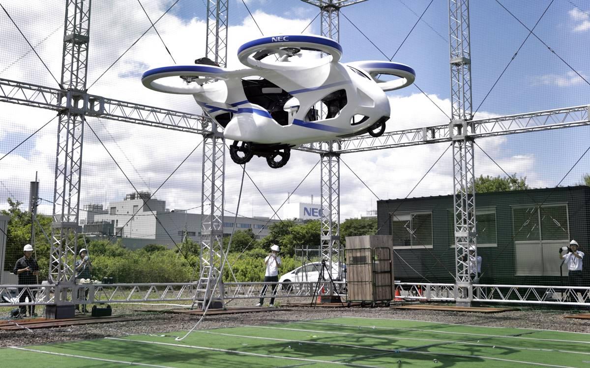 NEC ya tiene su auto volador
