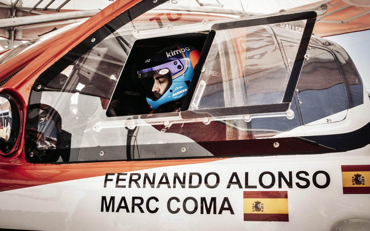 Fernando Alonso debutará oficialmente en el Cross Country