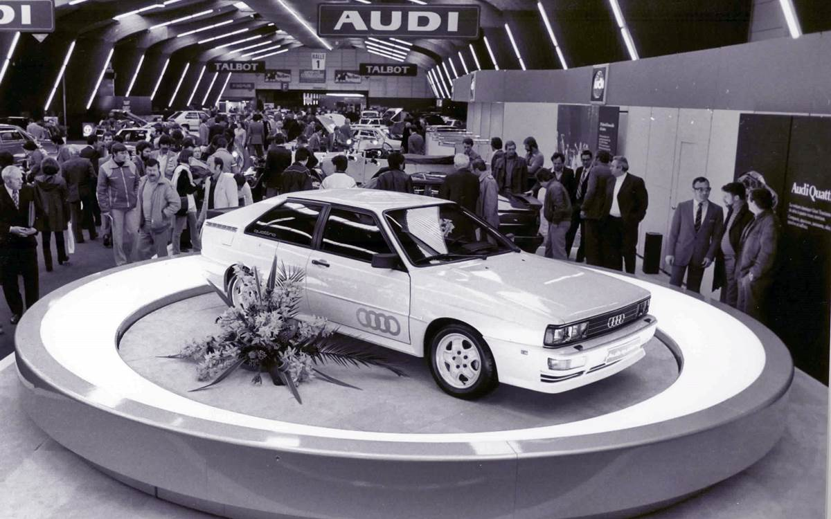 Audi celebrates 40 years of the Audi quattro