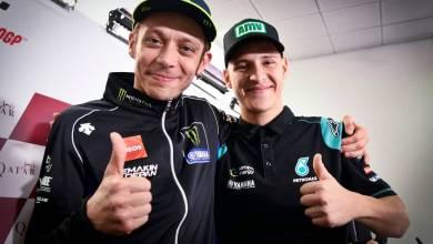 Fabio Quartararo and Valentino Rossi