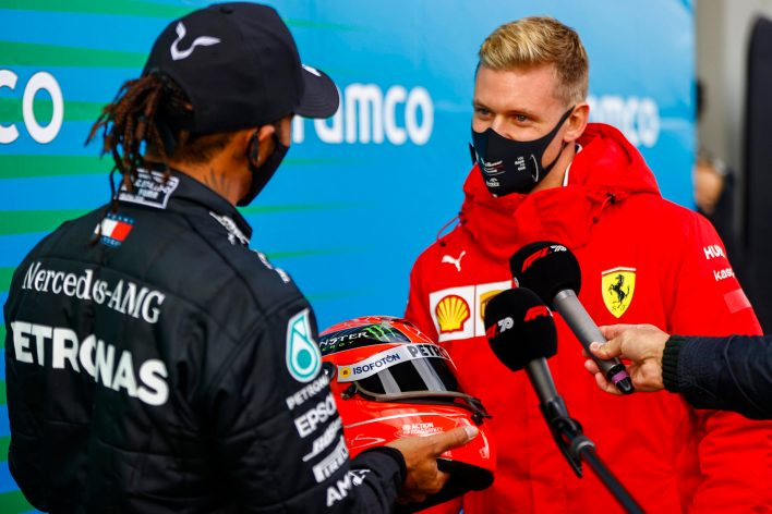 Lewis Hamilton and Mick Schumacher