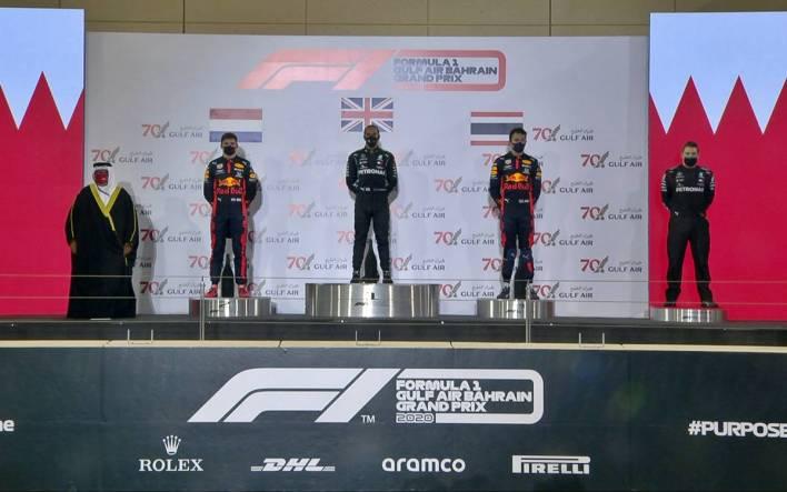 Bahrain GP podium