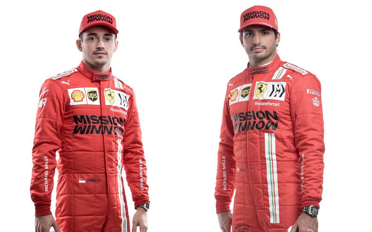 Carlos Sainz and Charles Leclerc