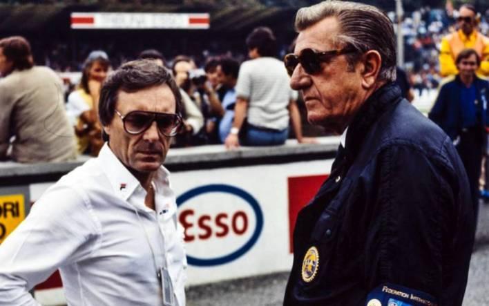 Jean Marie Balestre and Bernie Ecclestone