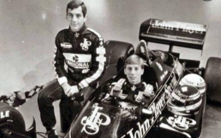 Johnny Dumfries and Ayrton Senna