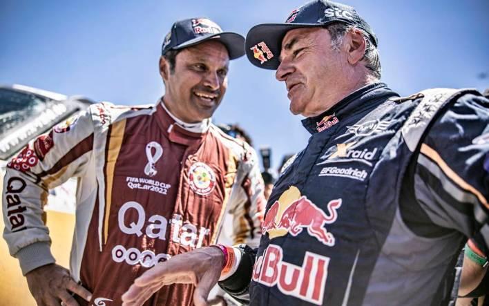 Nasser Al-Attiyah and Carlos Sainz