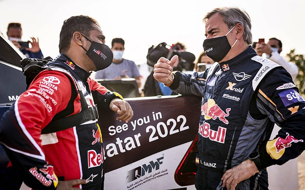 Carlos Sainz and Nasser Al-Attiyah