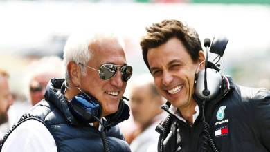Toto Wolff and Lawrence Stroll