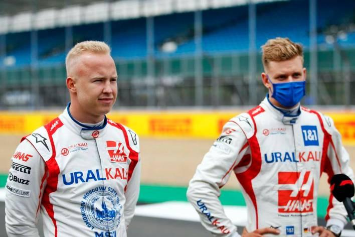 Michael Schumacher and Nikita Mazepin