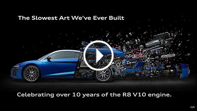 Sjajan poster za desetu obljetnicu modela Audi R8 V10
