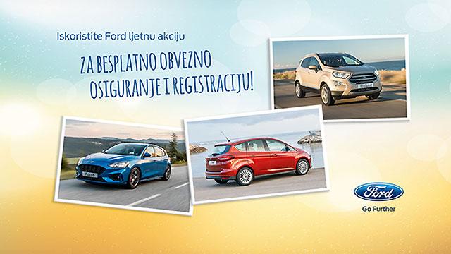 Ford Focus, C-Max ili EcoSport uz obvezno osiguranje i registraciju