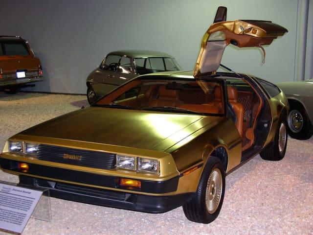 Gold-plated DeLorean