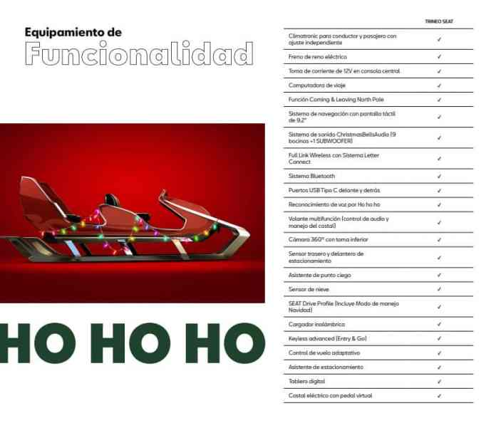 This year Santa Claus launches the SEAT Trineo