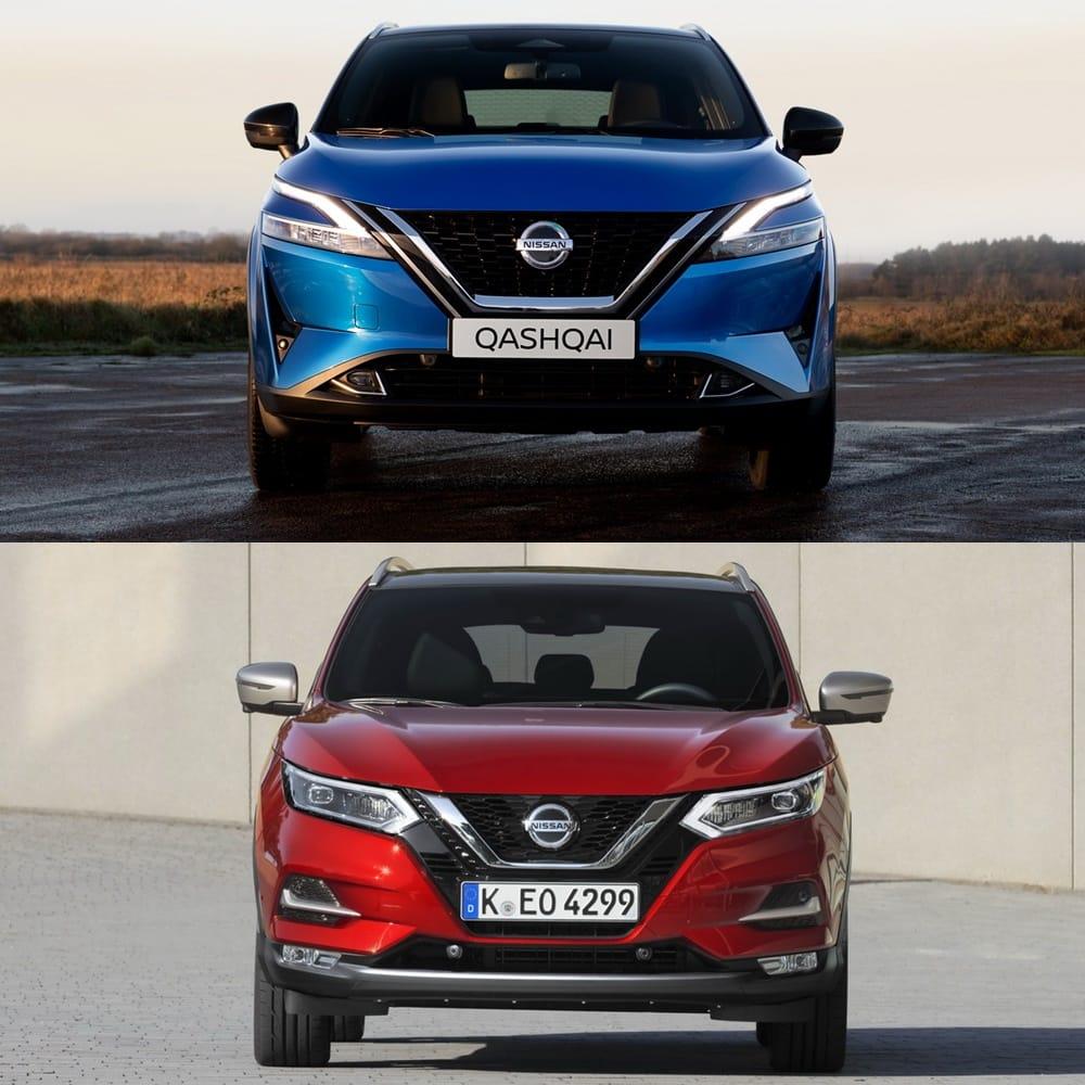 Visual comparison Nissan Qashqai 2021