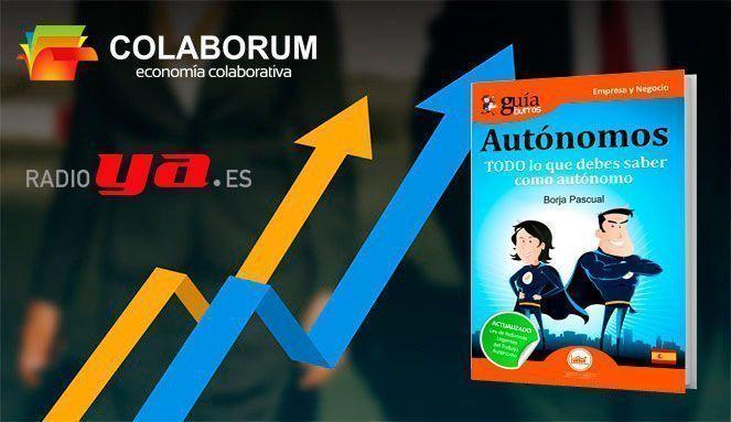 """El Vook del «GuíaBurros: Autónomos» y su autor, Borja Pascual, en """"Colaborum"""", en RadioYa"""