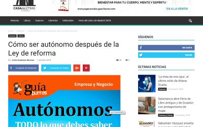 Borja Pascual y su GuíaBurros: Autónomos, en el medio especializado Casa de Letras
