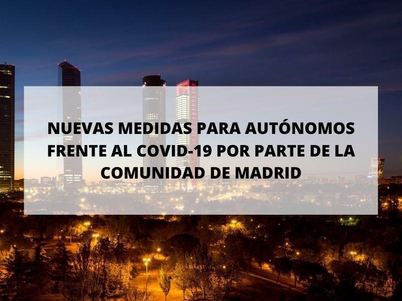Medidas por coronavirus: La Comunidad de Madrid tiene la intención de asumir las cuotas de autónomos
