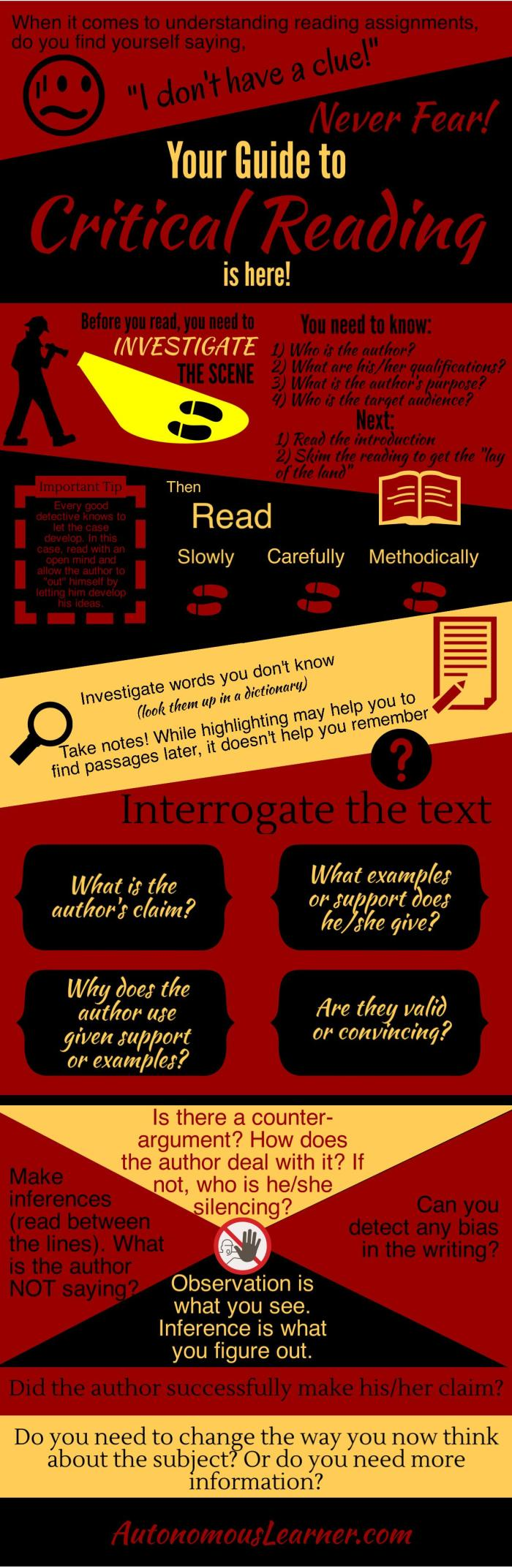 Critical Reading Infographic 2
