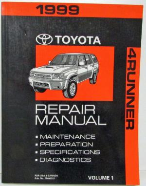 1999 Toyota 4Runner Service Shop Repair Manual US & Canada