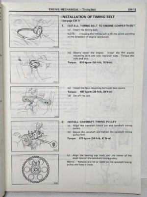 1986 Toyota Corolla FF Shop Repair Manual & Electrical
