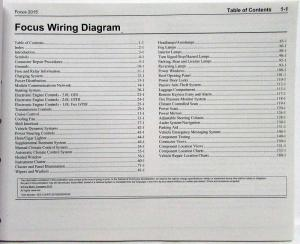 2015 Ford Focus ST Electrical Wiring Diagrams Manual