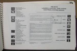 1989 Buick Dealer Electrical Wiring Diagram Service Manual