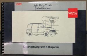 1989 GMC Electrical Wiring Diagram Service Manual Light