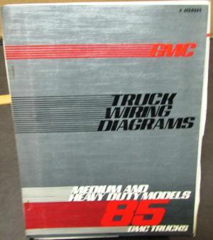1985 GMC Electrical Wiring Diagram Dealer Manual Medium
