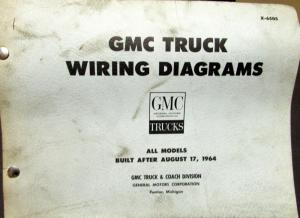1965 GMC Dealer Electrical Wiring Diagram Service Manual