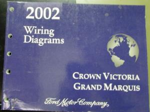 2002 Ford Mercury Electrical Wiring Diagram Manual Crown
