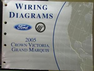 2005 Ford Mercury Electrical Wiring Diagram Manual Crown