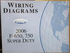2006 Ford Dealer Electrical Wiring Diagram Manual F650750