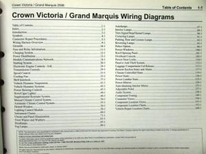 2006 Ford Mercury Electrical Wiring Diagram Manual Crown Vic Grand Marquis