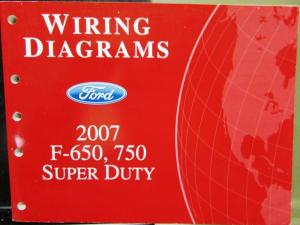 2007 Ford Dealer Electrical Wiring Diagram Manual F650 750