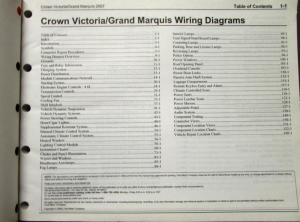 2007 Ford Mercury Electrical Wiring Diagram Manual Crown Vic Grand Marquis