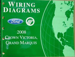 2008 Ford Mercury Electrical Wiring Diagram Manual Crown