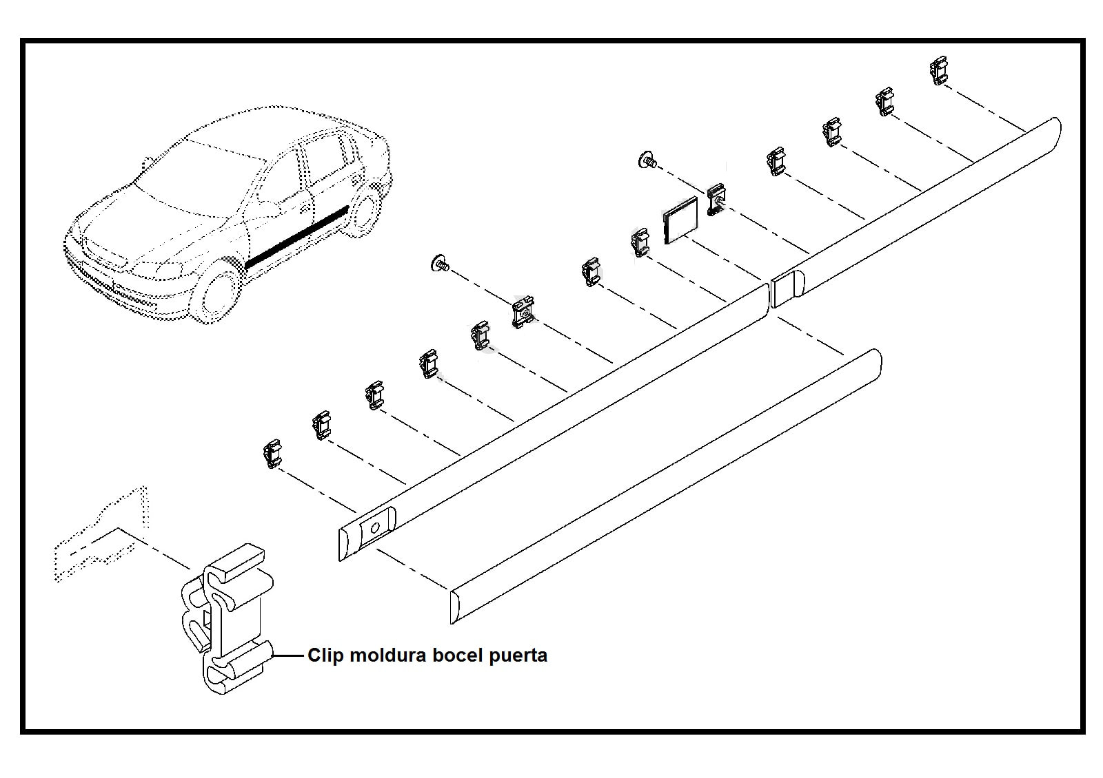 Clip Pin Moldura Bocel Puertas Chevrolet Astra