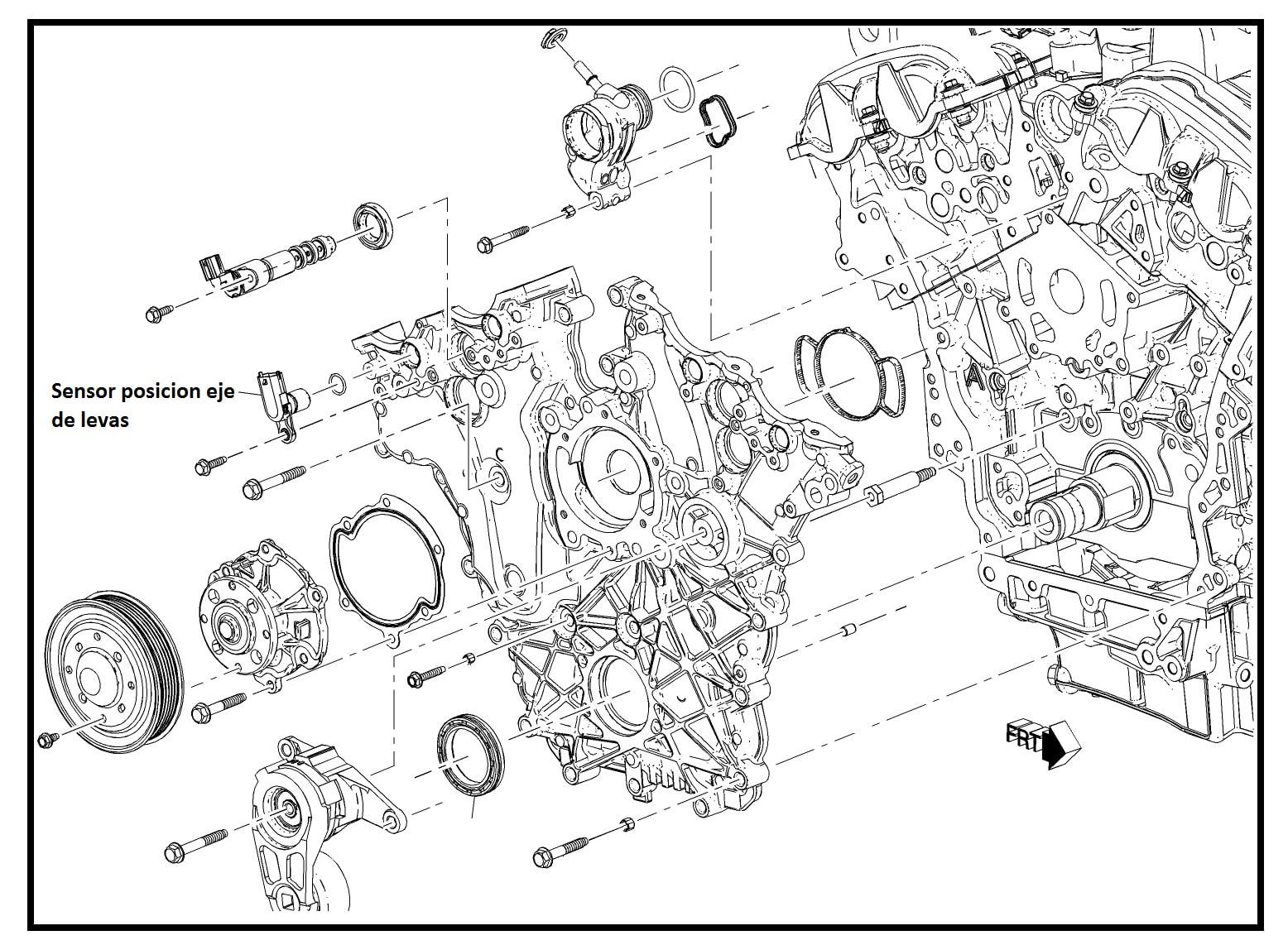 Sensor Posicion Eje De Levas Chevrolet Captiva 3 0 3 6