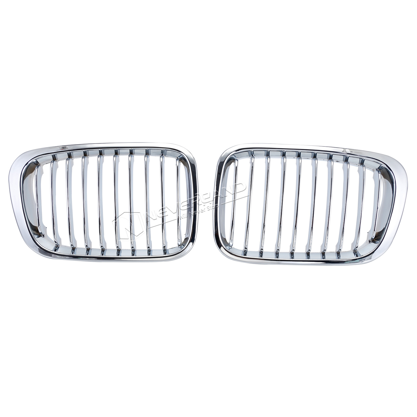 Chrome Front Kidney Grille For Bmw E46 3 Series 4 Doors