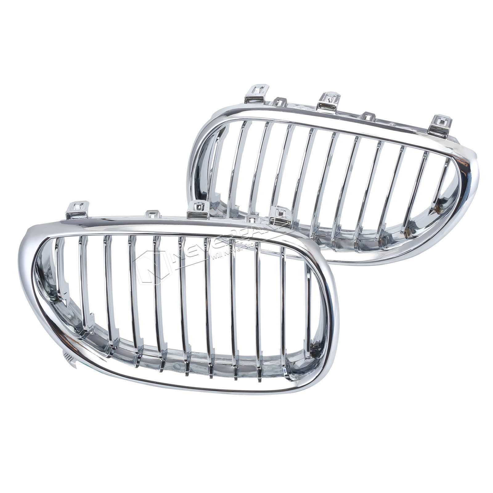 2x Front Kidney Grilles For Bmw E60 E61 M5 03 09 520d 520i