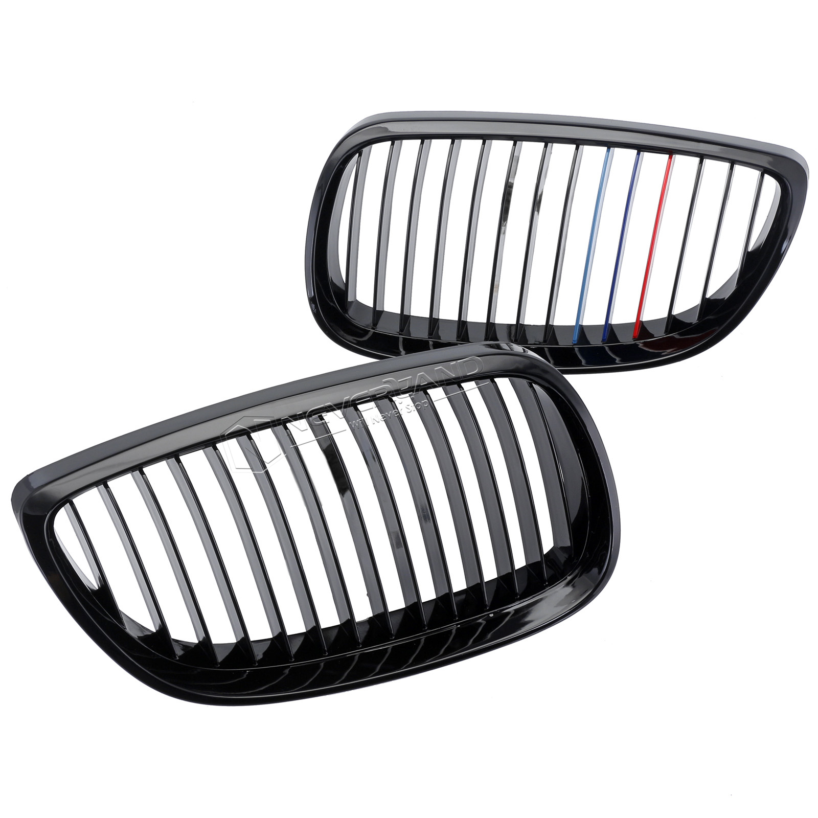 Pair Front Grille Gloss Black For Bmw E92 E93 2d