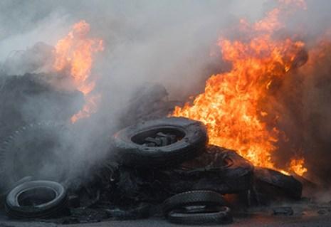 Quema de neumáticos