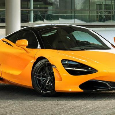 Papaya Yellow Mclaren 720S Spa 68